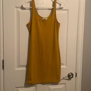 A mustard dress